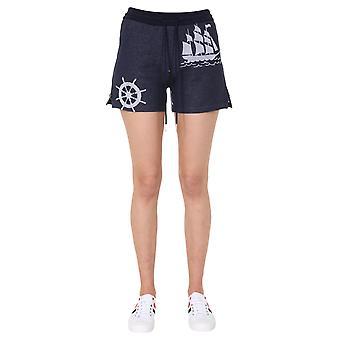 Thom Browne Fjq038a06315415 Women's Blue Cotton Shorts