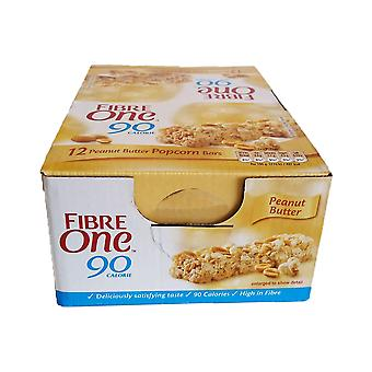 12 x 21g Fibre One Peanut Butter Bars Breakfast Picnic Lunch Snack Food
