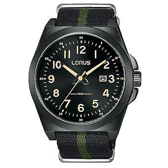 Lorus RH939KX-9 Black Nylon Fabric Strap Wristwatch