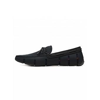 Swims zwart gevlochten kant loafer