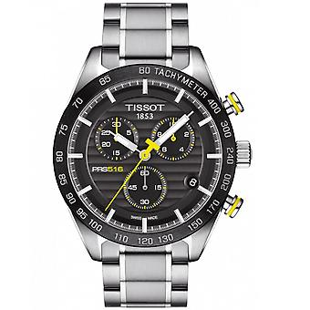 Tissot Watches T100.417.11.051.00 Prs 516 Silver Stainless Steel And Black Chronograph Watch