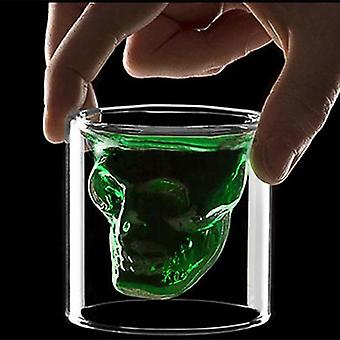 Novelty Cups Double Wall Skull Skeleton Glasses