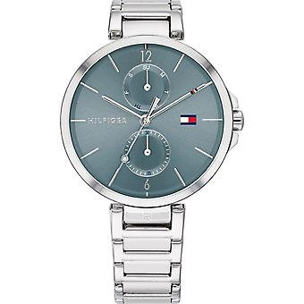 Tommy Hilfiger Watches 1782126 Women's Silver And Blue Stainless Steel Watch
