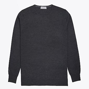 Thomas Maine  - Merino Crew Neck Knit - Grey