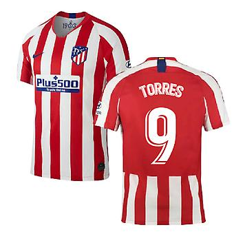 2019-2020 Atletico Madrid Home Nike Football Shirt (TORRES 9)