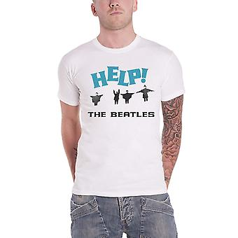 Officiel The Beatles T Shirt Help! Film Jumping in Snow Band Logo Mens White