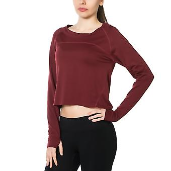 Jerf Womens Hellnar Red Crop Top Shirt