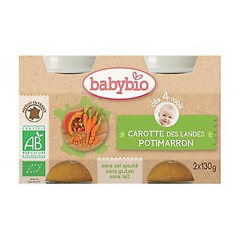 Orgaaninen Potimarron / Porkkana Small Pots 2 yksikköä