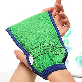 Two Sided Bath Glove For Shower And Spa - Body Cleaning And Exfoliating Scrubber Mitt For Dead Skin Removal