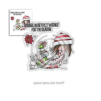 Polkadoodles Winnie Heartfelt Wishes Clear Stamps