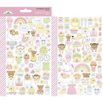 Doodlebug Diseño Paquete de Joy Mini Iconos Pegatinas