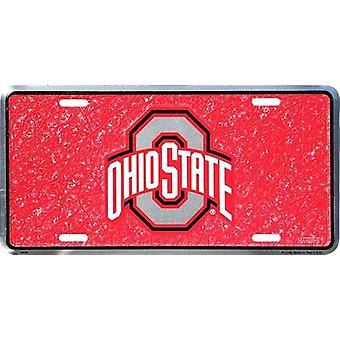 Placa de licencia de mosaico de Ohio State Buckeyes NCAA
