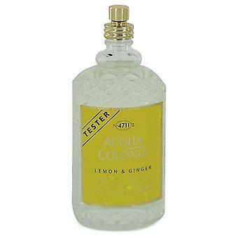 4711 Acqua Colonia Lemon & Ginger Eau De Cologne Spray (Unisex Tester) By Maurer & Wirtz 5.7 oz Eau De Cologne Spray