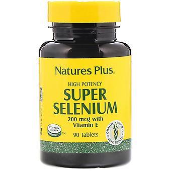 Nature-apos;s Plus, Super Sélénium, High Potency, 200 mcg, 90 Tablettes