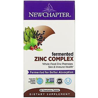 New Chapter, Fermented Zinc Complex, 60 Vegetarian Tablets
