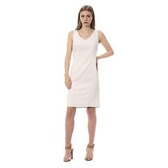 Woven cotton and lurex sheath dress tj86327