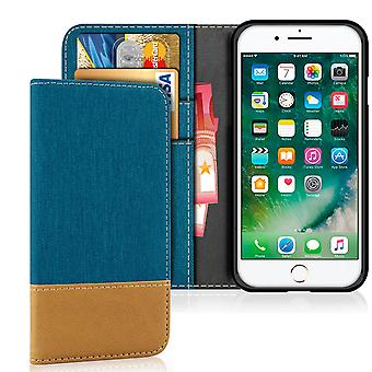 Apple iPhone 7/8 Mobile Shell Shockproof Denim Protection TPU Mobile Phone Magnet