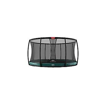 berg elite inground green 330 11ft + safety net deluxe trampoline