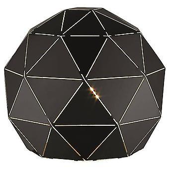 1 Lichte tafellamp wit, mat zwart, E27