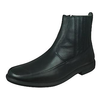 Sledgers Dallas Mens Leather Chelsea Boots - Black