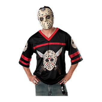 Barbati Jason Voorhees Halloween hockey Jersey & masca film Fancy Dress costum