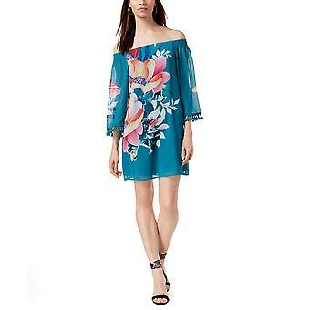 Trina Turk | Amaris Photo Collage Tassel Floral Mini Dress