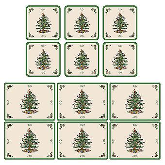 Pimpernel Spode Crăciun Tree Placemats și Coasters Set de 6