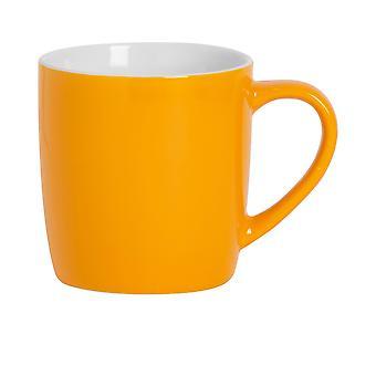 Argon Geschirr Tee Kaffeebecher - zeitgenössische farbige Keramik Tasse - 350ml - gelb