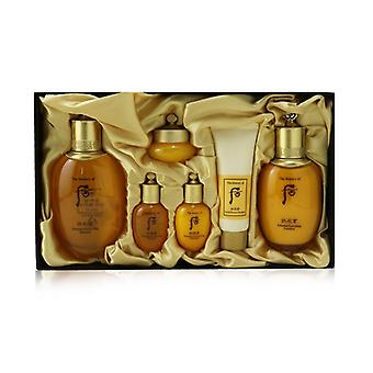Whoo (The History Of Whoo) Gongjinhyang Essential Set: Balancer (150ml+20ml) + Emulsion (110ml+20ml) + Cream 10ml + Cleanser 40ml 6pcs
