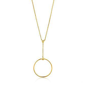 Ania Haie Silber glänzend gold vergoldet Orbit Drop Circle Halskette N001-02G