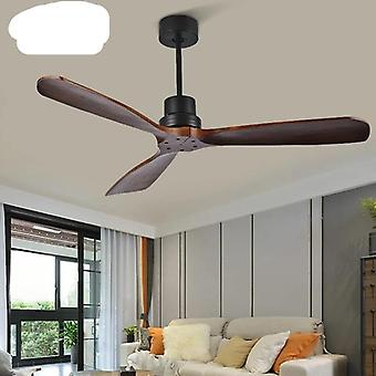 Wooden Ceiling Fans Without Light, Home Bedroom Living Room Fan Remote Control