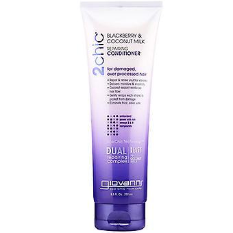 Giovanni Cosmetics 2Chic Blackberry & Coconut Milk Repair Conditioner, 8.5 Oz