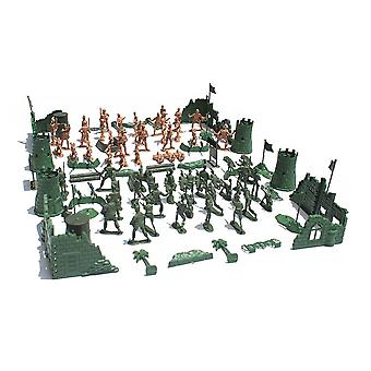 Army Men Action 5cm Figures Army Toys Military Playset with Bockhouse