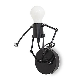 Wall lamp robot lamp Robo-W black E-27 10892