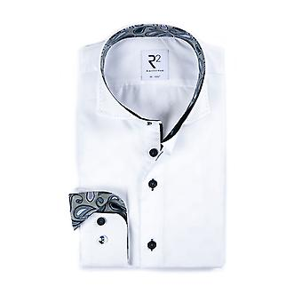 R2 Cut Away Collar With Stitched Edge Shirt White