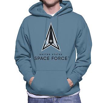 U.S. Space Force Logo Dark Text Men's Hooded Sweatshirt