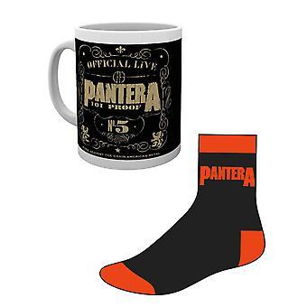 Pantera Mug and Socks Gift Set 101 proof Band Logo Logo new Official