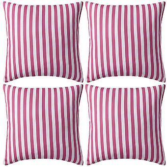 vidaXL hage pute 4 stk. stripe mønster 45 x 45 cm rosa