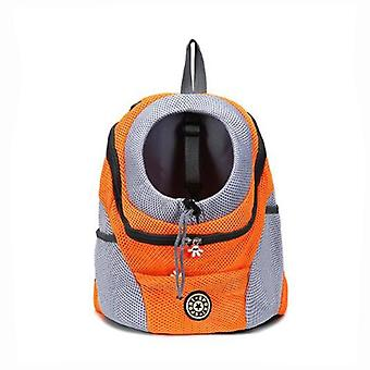 Outdoor Nylon Carrier Bag ,double Shoulder Portable Travel Dog Pet Backpack