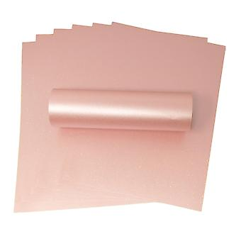 10 Sheets of A4 Iridescent Sparkle Paper Rosa Pink 120gsm