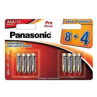 Panasonic ProPower Gold Batteries - AAA (8+4 Pack)