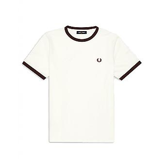T-Shirt Fred Perry Ringer T-Shirt Weiß