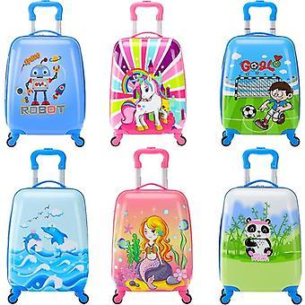 """18"""" Sarjakuva rullaavat matkalaukku pyörillä varustettu laukku Lasten matkalaukku käsimatkatavarat"""