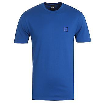 BOSS Tales Logo Badge T-Shirt - Cobalt Blue