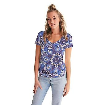 Purple Pourri Women's V-neck Tee