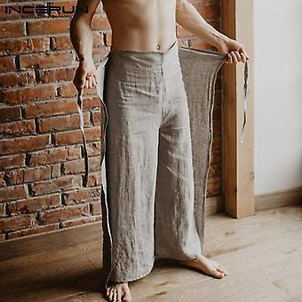 Men Thai Fisherman Pants Loose Vintage Solid Color Women Pants