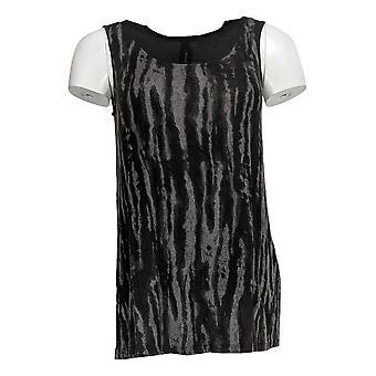 Lisa Rinna Collectie Women's Top Sleeveless Knit Black A277015