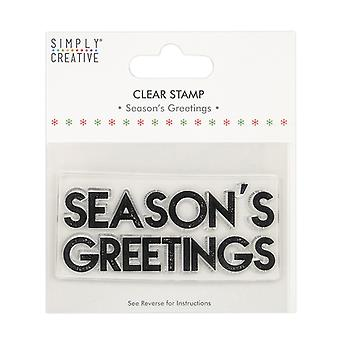 Simply Creative Season's Greetings Large Clear Stamps