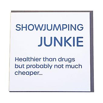 Gubblecote Showjumping Junkie Wordy Greetings Card