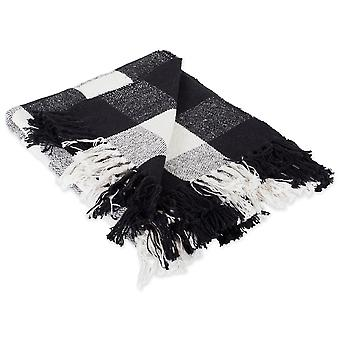Dii schwarz & weiß Buffalo Check Werfen Decke
